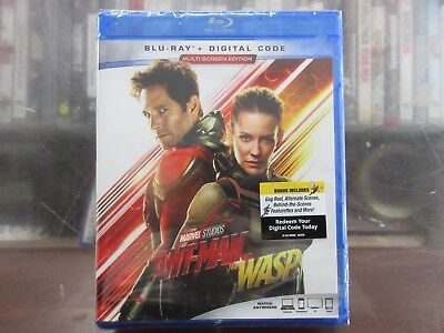 BRAND NEW ANT-MAN AND THE WASP (Blu Ray + Digital)