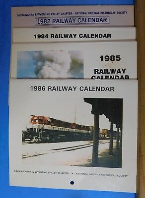 Lackawanna & Wyoming Valley Chapter NRHS Calendars lot of 4 2019 -1 can be used
