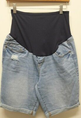 Old Navy Maternity Womens Size 10 Distressed Jean Shorts Full Panel
