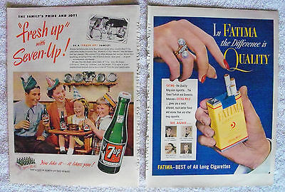 Vintage Advertising Print Ads All 1951 Coke Beer Gas Movie/tv Stars Cars Cigars