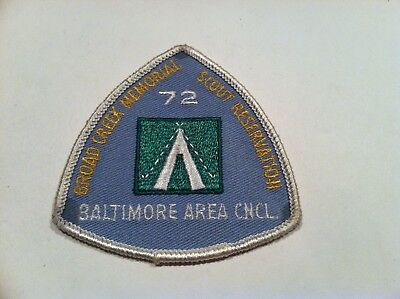 Boy Scout Baltimore Area Council Broad Creek Memorial Reservation 1972 Patch
