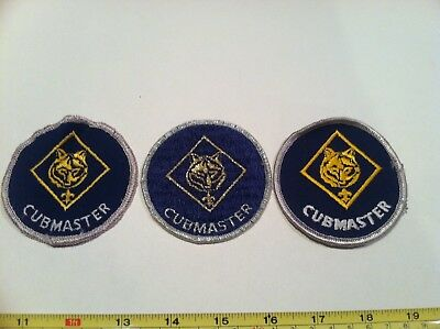 Boy Scout Insignia Cubmaster Patch Lot