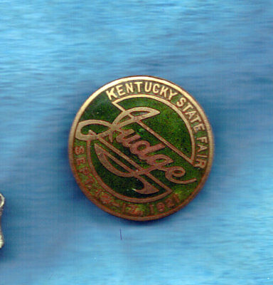 1921 enamel  Kentucky State Fair Judge's badge Agriculture No Reserve