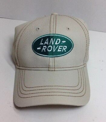 Men's Land Rover Baseball style Cap One Size Tan Land Rover Embroidered