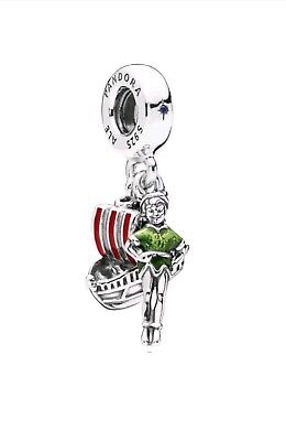 Authentic Pandora Disney Parks Peter Pan With Jolly Roger Ship Charm 2018