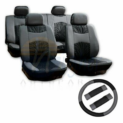 13pcs Durable Black Gray Car Seat Covers W/Steering Wheel Cover FOR CHEVROLET