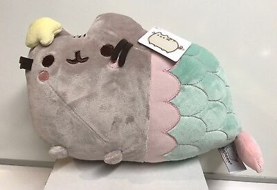 "Gund Stuffed Pusheen Mermaid With Star 12"" Plush , New"
