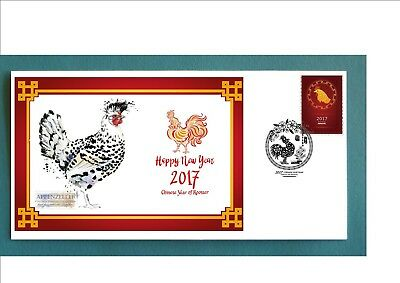 2017 Year Of The Rooster Souvenir Cover- Appenzeller Rooster