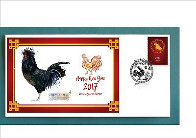 2017 Year Of The Rooster Souvenir Cover- Crevecoeur