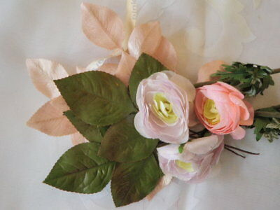 "Vintage Millinery Flower Collection 2"" Pink Lilac Ranunculus German H1741"