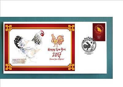 2017 Year Of The Rooster Souvenir Cover- Delaware