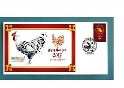 2017 Year Of The Rooster Souvenir Cover- Hamburg