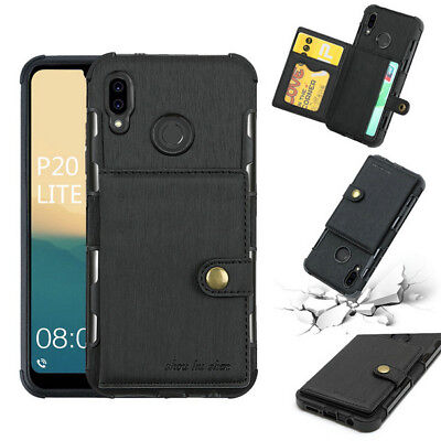 Card Slot Leather Shockproof Case Cover For Sony Huawei P9 P20 Lite Mate10 Y3