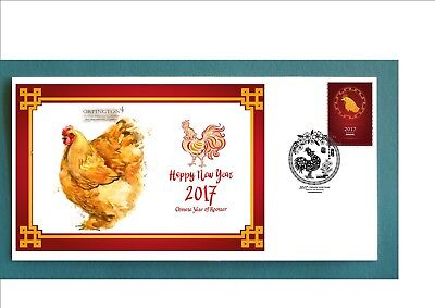 2017 Year Of The Rooster Souvenir Cover- Orpington