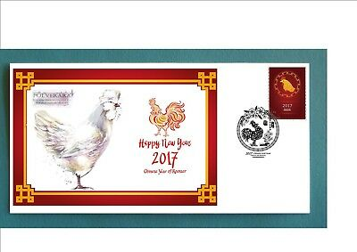 2017 Year Of The Rooster Souvenir Cover- Polverana