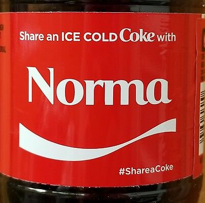 Summer 2017 Share A Coke With Norma 20 oz Coca Cola Collectible Bottle