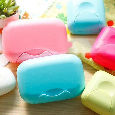 Travel Outdoor Hiking Bathroom Shower Soap Dish Box Case Holder Container