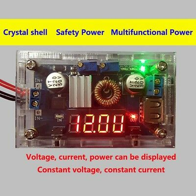 5A USB Port Voltmeter LED Drive Step down Lithium charger Power Module + CASE SA