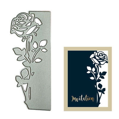 Xmas Metal Scrapbook Rose Border DIY 3D Stamp Cutting Dies Paper Craft Wedding
