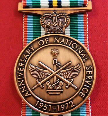 Australian Anniversary Of National Service Medal Replica 1951 - 1972