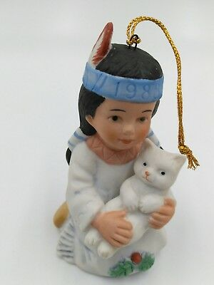 Vague Shadows  Sagebrush Kids by G.Periollo  Bell Ornament Girl and Kitten
