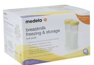 MEDELA BREAST MILK FREEZER STORAGE FEED STORAGE BOTTLE 2.7 oz/ 80 ml x12 #87061