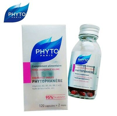 PHYTO PARIS Phytophanere Hair And Nails Dietary Supplement 120 Caps #tw