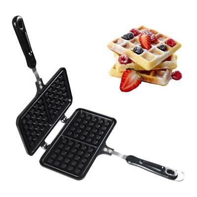 Single head Non-stick Iron Mould Mold Press Plate Waffle Baking Pan Maker Gas