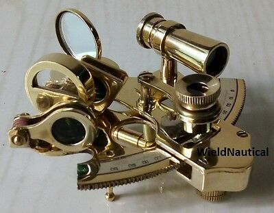 Nautical Sextant Solid Brass Antique Vintage Collectible Decor 3 Inch