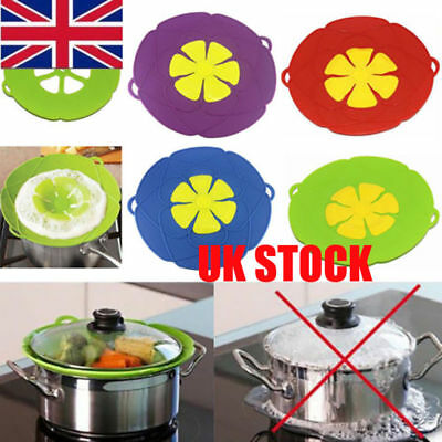 Anti-overflow Silicone Handy-Lid Kitchen Gadgets Spill Stopper Pot Cover Cook UK