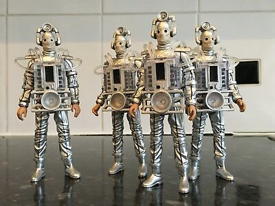 Tenth Planet Cyberman SQUAD X4 5''  Figure Doctor Who Character Options Lot
