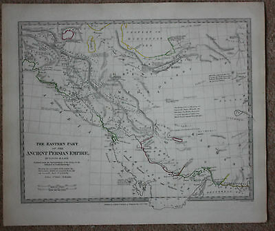 Original antique map, ANCIENT PERSIA, BABYLON PERSEPOLIS MESOPOTAMIA, SDUK, 1831