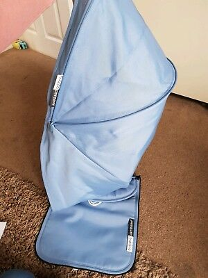 Bugaboo Cameleon 3 extendable Canvas hood and Apron in ice blue FREE UK POSTAGE