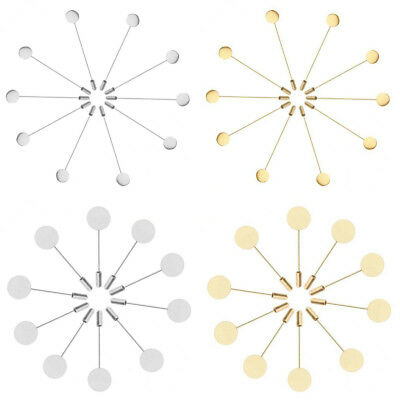 10pcs Metal Lapel Pin Base Stick Blank Brooch Pin for Men Boutonniere​ DIY