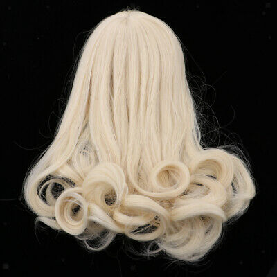 Trendy Doll Long Wavy Wig Hair with Bang for 16inch Salon Doll Light Golden