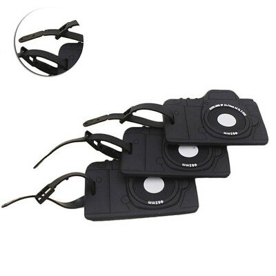 New Camera Shape Suitcase Luggage Tags Address Name Holder Travel Identifier