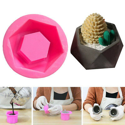 Handmade 3D Geometric Silicone Flower Pot Mold Concret Succulent Planter Mould