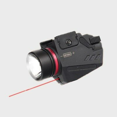 Tactical Led Flashlight and Red Laser Sight Combo White Light 150 Lumens