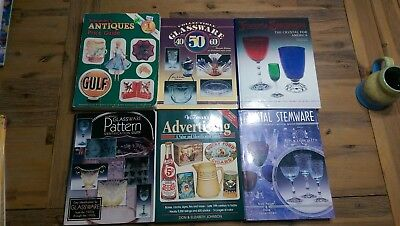 Lot Of Collector Books Antique Glassware Crystal Stemware Price Guides Fostoria