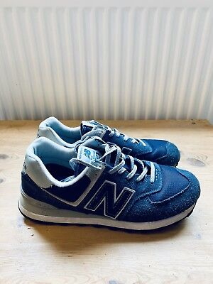 New Balance 574 Classic Navy Suede   Textile Retro Style Lace Trainers Size  9 9b4ca5ac0ef9