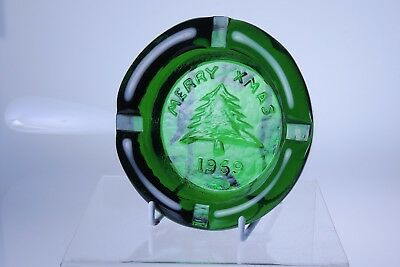 Merry Xmas 1969 Ashtray Clevenger Brothers Glass South Jersey STORE CLOSING