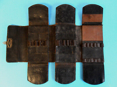 Antique ~100 yr old Leather Surgical Instrument Pocket Case Haussman & Dunn