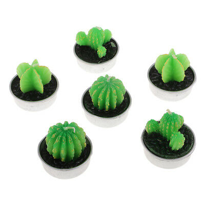 6Pcs Delicate Cactus Tealight Candles for Party Wedding Spa Home Decorations