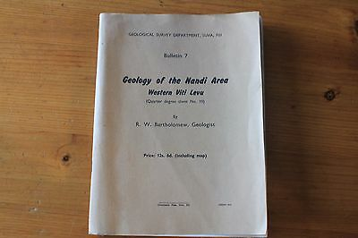 Geology of the Nandi Area Suva, Fiji, Booklet and geological survey map 1960