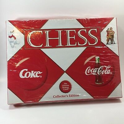Coca Cola Chess Set Game Collector's Edition Coke USAopoly New Sealed OO