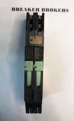 Zinsco / Sylvania & GTE 30 Amp 2 Pole Twin Type RC38AL Circuit Breaker - Chipped