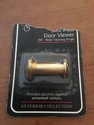 Solid Brass 180 Degree Wide Viewing Angle Door Viewer New