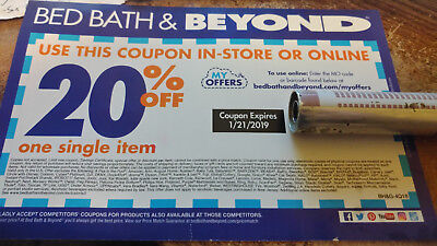 Two Bed Bath Beyond Coupons 2x 20 Off Single Item Online