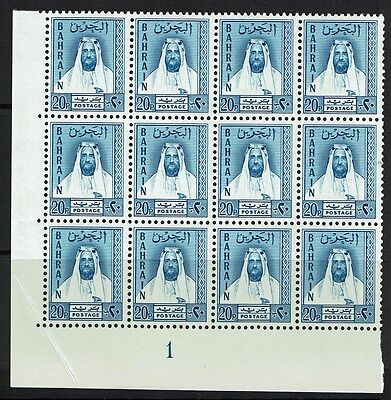 Bahrain SG# L10, Mint Never Hinged, Blk of 12, visible corner crease- Lot 021217