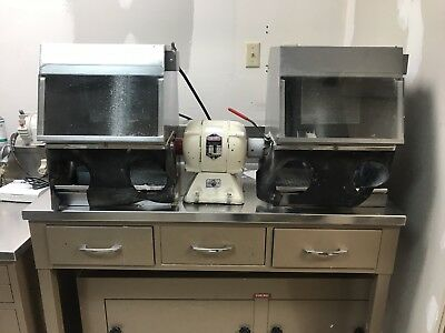 dental lab equipment Lathe with bench, dust collector/filter